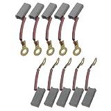 10 piezas Taladro escobillas de carbono para Motor anillo de 14 x 5,5 x 4 mm