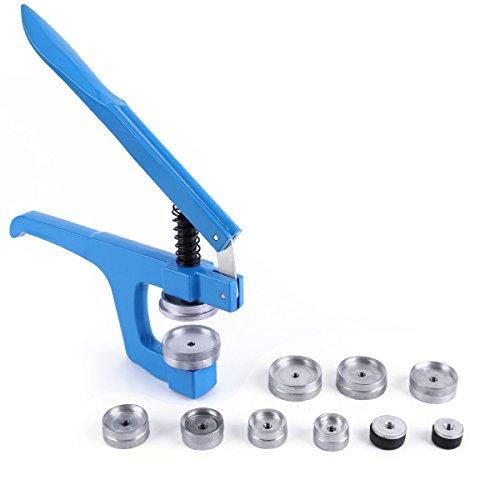 Uhrwerkzeug Einpresswerkzeug Uhrenschließer & 9 Druckplatten Kunststoffeinsätze