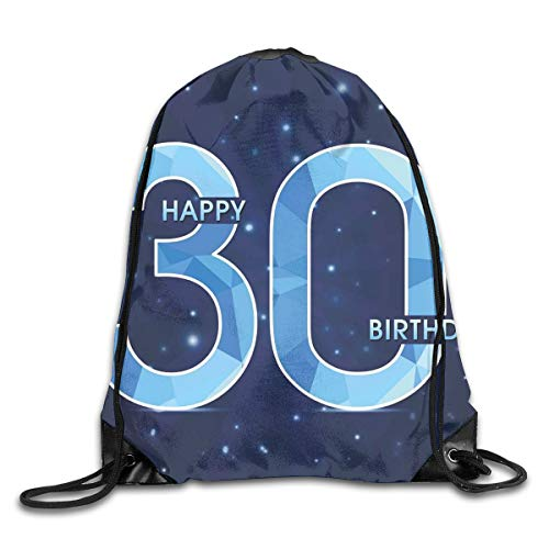 Drawstring Backpack Gym Bags Storage Backpack, Modern Design Polygonal Emblem Starry Night Sky Image,Deluxe Bundle Backpack Outdoor Sports Portable Daypack -