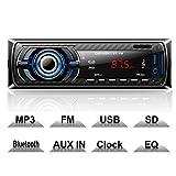 Hoidokly Autoradio Bluetooth, 1 Din 4 x 60W Voiture Stéréo FM Radio, Lecteur MP3...