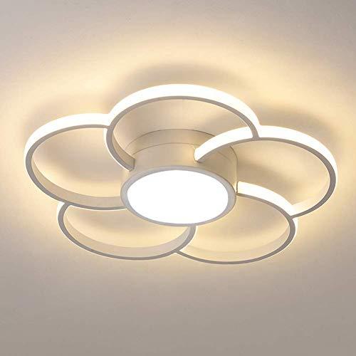 50W LED Deckenleuchten for Küche, Kochinsel, Wohnzimmer |Moderne Kreative Plum Design-Energiespar Kronleuchter Licht [Energieklasse A +], Schwarz, WhiteLights50W XIUYU (Color : White)