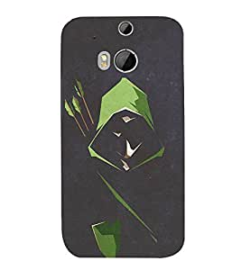 FUSON Archer In Dark 3D Hard Polycarbonate Designer Back Case Cover for HTC One M8 :: HTC M8 :: HTC One M8 Eye :: HTC One M8 Dual Sim :: HTC One M8s