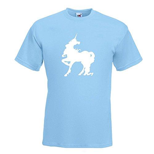 KIWISTAR - Einhorn T-Shirt in 15 verschiedenen Farben - Herren Funshirt bedruckt Design Sprüche Spruch Motive Oberteil Baumwolle Print Größe S M L XL XXL Himmelblau