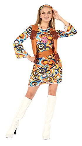 Bristol Novelty AC730 Hippie/Mod Kleid und Weste mit -