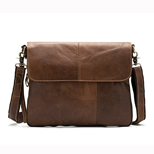 Meoaeo Business Head Schicht Rindsleder Crossbody-Tasche Mann Matte Brown
