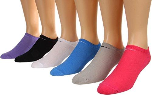 Nike Women's Training leichte Bei No-Show Wird 6-Pack schwarz/Weiss/grau/pink/lila/Blau Socken, M (Frauen Schuh 6-10) (Athletische Socken Damen Nike)