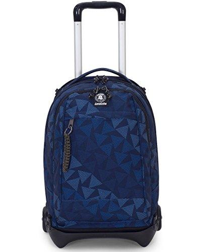 Trolley invicta - plug - blu - zaino sganciabile e lavabile - scuola e viaggio 35 lt