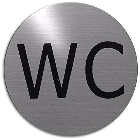Pictogramme Toilettes - xaptovi Plaque de porte Texte: WC Edelstah