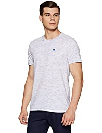 Urban Ranger by pantaloons Men's Solid Slim Fit T-Shirt