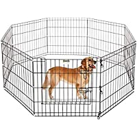 Pets Buzz, Foldable Metal Dog 6 Panel Playpen for Dogs (75 X 75)