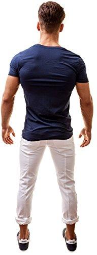 Diesel Herren Michael Industry V-Ausschnitt Shirt Navy