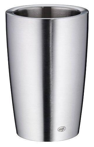 alfi 0467.205.100 Flaschenkühler Secco, Edelstahl mattiert, für 0,7 l oder 1,0 l Flaschen