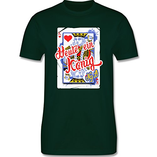 JGA Junggesellenabschied - Heute ein König - Bräutigam JGA - Herren Premium T-Shirt Dunkelgrün
