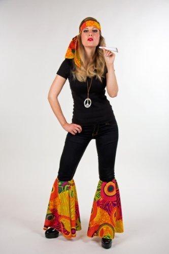 Karneval Zubehör Set Hippie zum 70er Jahre Kostüm zu Fasching, das Dessin kann vom Bild abweichen