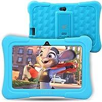Dragon Touch Tablet para Niños con WiFi Bluetooth 7 Pulgadas Tablet Infantil de Android Quad Core 1GB 8GB 32GB Doble Cámara Kid-Proof Funda Tablet Niños Juegos educativos Y88X Plus (Azul)