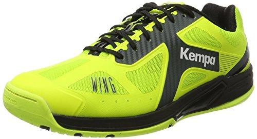 Kempa Wing Lite Caution, Zapatillas de Balonmano para Hombre, Amarillo (Amarillo Fluor/Antracita 000), 40.5 EU