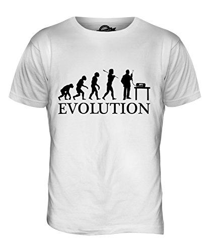 CandyMix Cb Funk Evolution Des Menschen Herren T Shirt Weiß