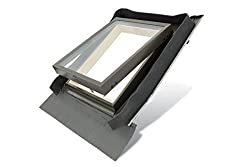 FENSTRO Skylight (45cm x 73cm) Access Roof Window with Integrated Flashing