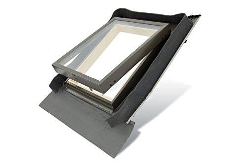 Mehrzweckfenster Holz FE4555 Fenstro Dachfenster 45 x 55 cm Kaltraumfenster, Ausstiegsfenster mit Eindeckrahmen