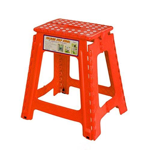 C&S CS Hoher Schemel-tragbarer im Freien Tätigkeits-Klappstuhl-Ausgangshocker und Verdickung Plastikhocker-Bequemlichkeit der Lagerung (Color : Red)