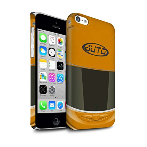 STUFF4 Matte Snap-On Hülle / Case für Apple iPhone 7 Plus / Superbike/Rosa Muster / Motorradhelm Kollektion Superbike/Orange