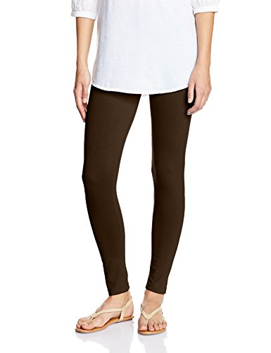 Myx Women's Cotton Stretch Leggings (AW16LEG01I_Brown_Medium)