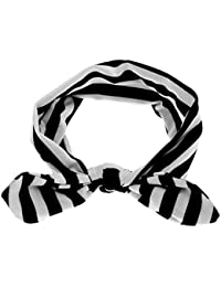 Generic Kid's Cute Bow Stripe Headband (Black, 14.17x1.97-inch, IN0256018256)