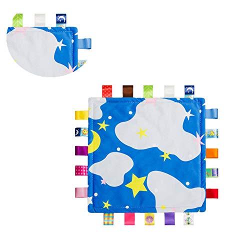 WESEEDOO Bébé apaiser Serviette Douillette Jouet bébé étiquette tag Couverture Douce en Peluche taggies Couverture Nouveau-né bébé Fille Cadeau