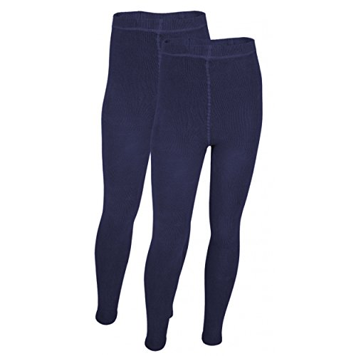TupTam Jungen Unterhose Strick-Leggings 2er Pack, Farbe: Dunkelblau, Größe: 128-134
