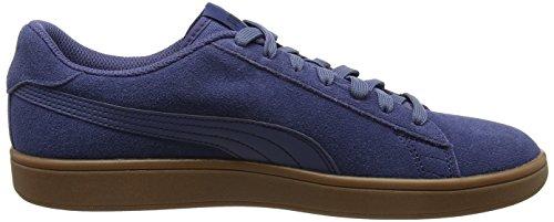 Puma Smash V2, Unisex Low Athletic Shoes - Azul Adulto (azul Índigo)