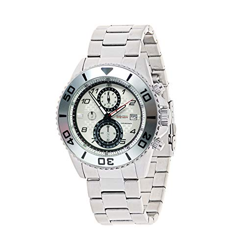 Nautec No Limit Mens Chronograph Quartz Watch with Stainless Steel Strap 129235