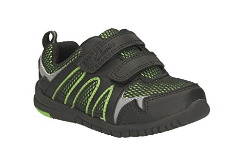 Clarks Boy's Azon Move First Shoe Black/Green