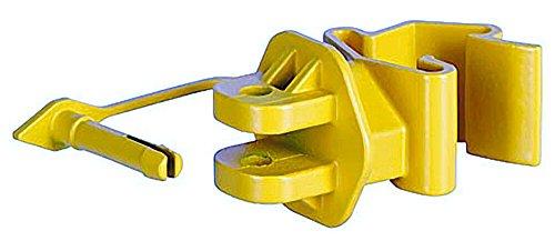 100-stuck-t-post-pinlock-isolator-gelb-fur-seil-litze-draht-weidezaun-klippsystem