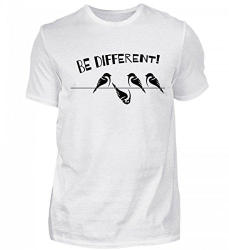 Hochwertiges Herren Shirt - Spatzen: Be Different - Für Alle Freiheitsliebenden Querdenker, die Sich Selbst treu Sind