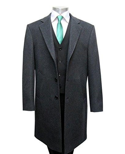 Herren Mantel lang Wool-Kaschmir Muga Anthrazit