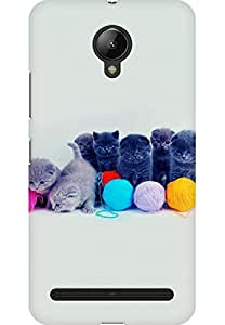 AMEZ designer printed 3d premium high quality back case cover printed hard case cover for Lenovo Vibe C2 (Cute Little Cats)