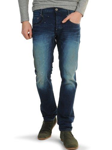 G-Star, New Radar Slim, Herren Jeans Hose, Denim, blue used painted, W 31 L 34 [17332] (Raw Kleidung Blue)