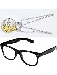 Sheomy Combo Of Friendship Coin Best Friends Pendant And Black Transparent Wayfarer Sunglasses Best Online Gifts