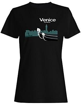 Novedad divertida del barco de Italia de la góndola de Venecia camiseta de las mujeres a648f