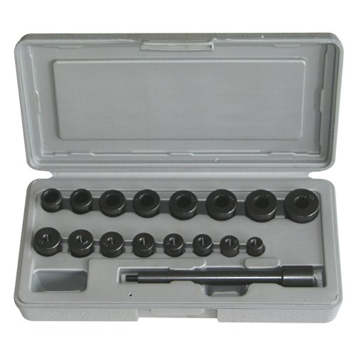 Kupplungszentrierwerkzeug Kupplung Zentriersatz Werkzeug Zentrierdorn Einstellwerkzeug für Kupplung 17-tlg Kupplung-Instandsetzung Werkzeug)