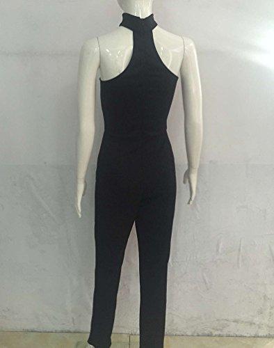 CHENGYANG Femmes Rompers Sans Manches en Bretelles Partie de Soirée Longue Pantalons Combinaisons Noir