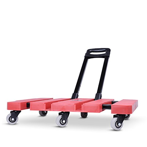 20be494b17c8 Caster Little Pull El coche plegable portátil Tire del camión Carga King  Luggage Cart El hogar Handling Trolleys Hand Truck (Color : Red)