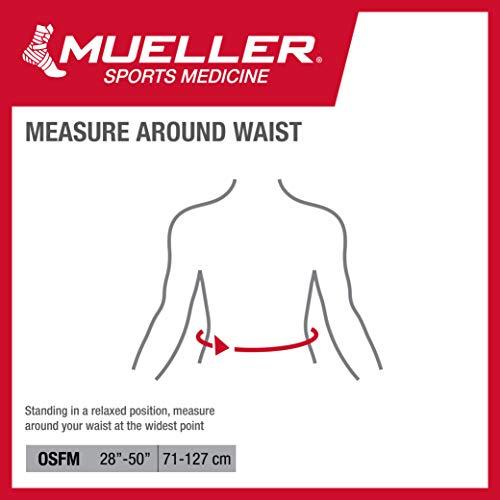 Mueller Rücken-Aktivbandage zur Unterstützung des Lendenwirbelbereiches, Einheitsgrösse, schwarz - 4