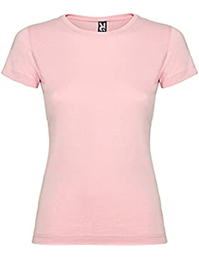 Camiseta de manga corta entallada (M, ROSA CLARO)