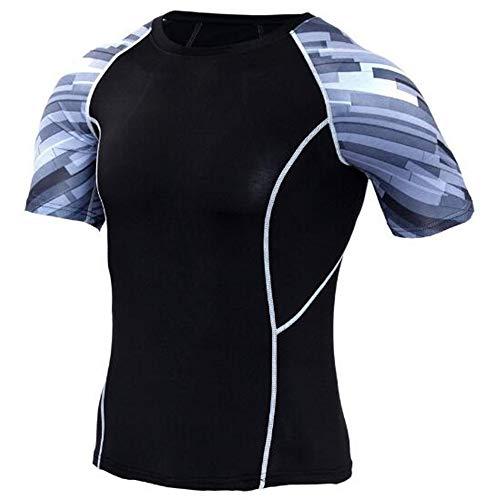 Männer Frühling Sommer Männer T-Shirts 3D Gedruckt Tier t-Shirt Kurzarm Lustige Design Casual Tops Tees Männlich,Stretch Fitness - E Schwarz S
