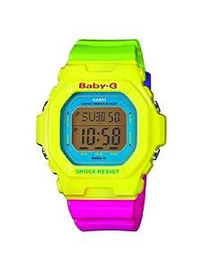 Casio Baby-G BG-5607-9ER - Reloj digital de cuarzo para mujer, correa de resina multicolor (luz, alarma, cronómetro) de Casio