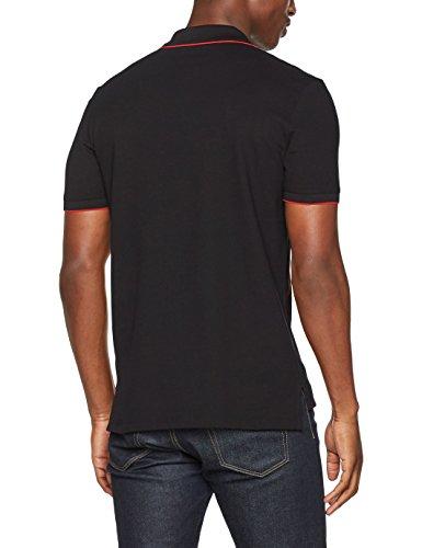 HUGO MEN Herren Poloshirt Delorian Schwarz (Black 001)