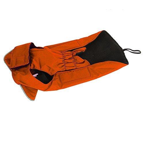 Hundemantel Regenmantel Hund Hundebekleidung Hundejacke Wintermantel Regenjacke-Orange (L) - 4