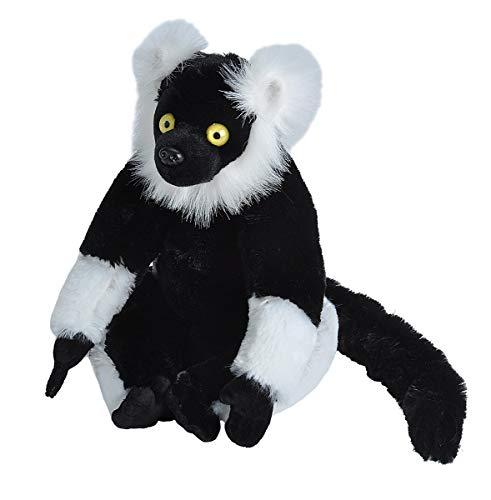 (Wild Republic 12230 Plüsch Schwarz Weiß Lemur, Cuddlekins Kuscheltier, Plüschtier, 30cm)