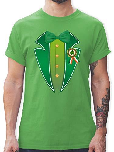 St. Patricks Day - Leprechaun Kobold Kostüm - XXL - Grün - L190 - Herren T-Shirt und Männer Tshirt
